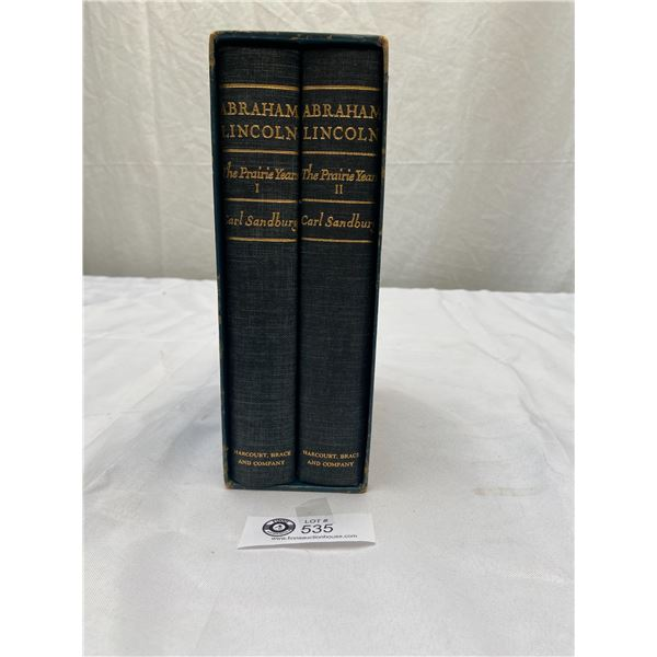 1926 Abraham Lincoln Vol. 1 and 2 The Praire Years