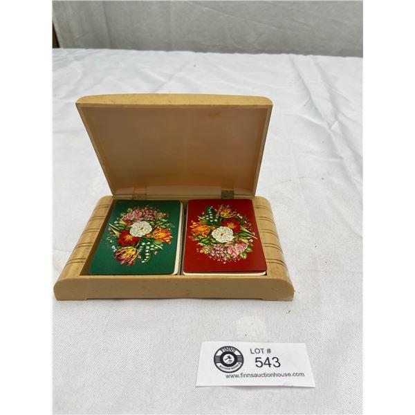 Vitnage Bakalite Card Holder with 2 Decks of Cards