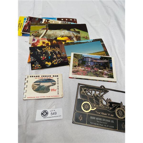 Vintage Ephemera Lot of Chilliwack, Niagra Falls Etc