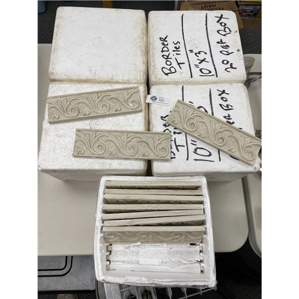 """5 Boxes of 10'x 3"""" Border Tiles. 20 per Box * PICK UP ONLY*"""