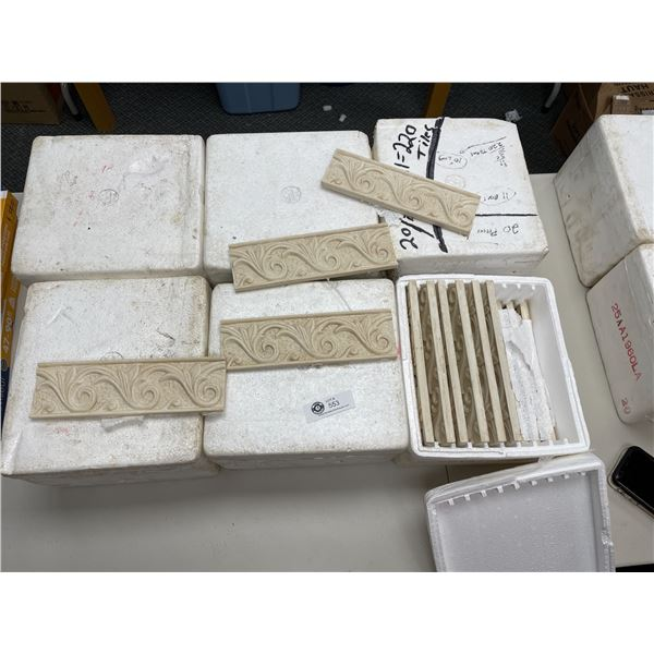 """6 Boxes of 10'x 3"""" Border Tiles. 20 per Box * PICK UP ONLY*"""