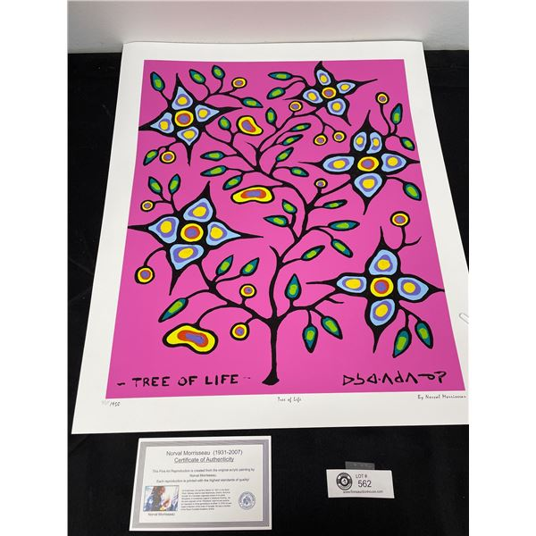 """Norval Morrisseau (1931-2007) """" Tree of Life"""" Numbered Print with COA 24""""x 20"""""""