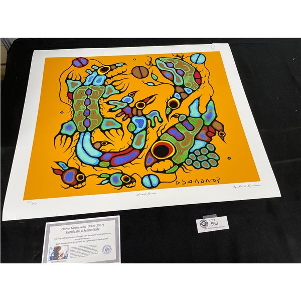"""Norval Morrisseau (1931-2007) """" Animal Spirits"""" Numbered Print with COA 24""""x 20"""""""
