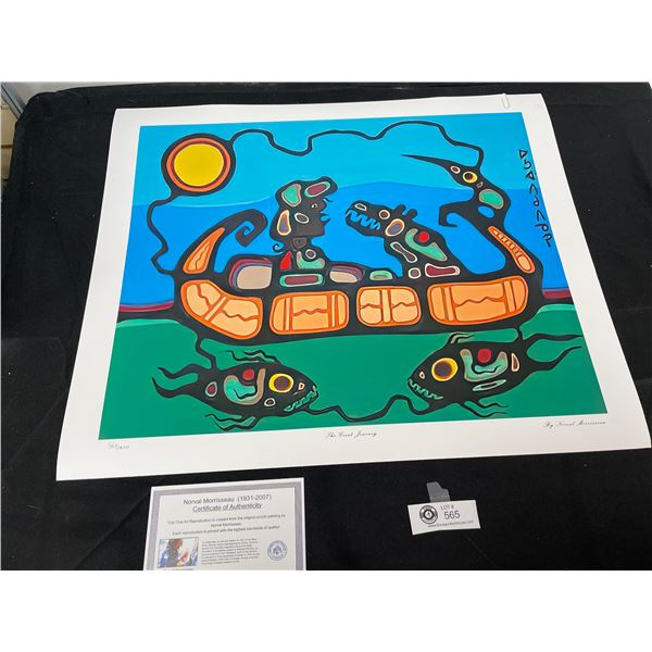 """Norval Morrisseau (1931-2007) """" The Great Journey"""" Numbered Print with COA 24""""x 20"""""""