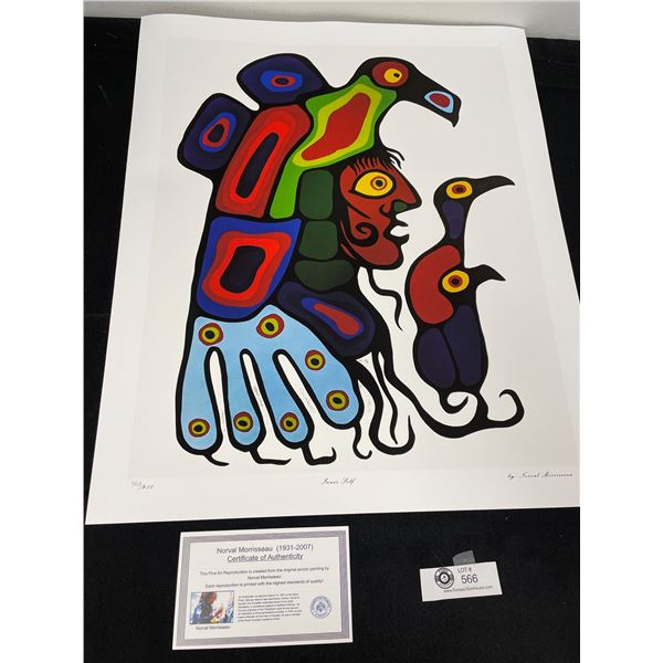 """Norval Morrisseau (1931-2007) """" Inner Self"""" Numbered Print with COA 24""""x 20"""""""