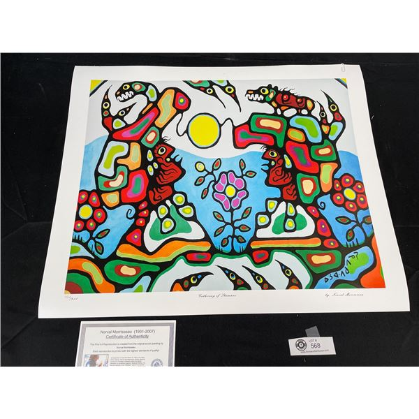 """Norval Morrisseau (1931-2007) """" Gathering Of Shamans"""" Numbered Print with COA 24""""x 20"""""""