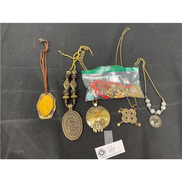 Lot of Polished Stone Jewelry and Necklaces