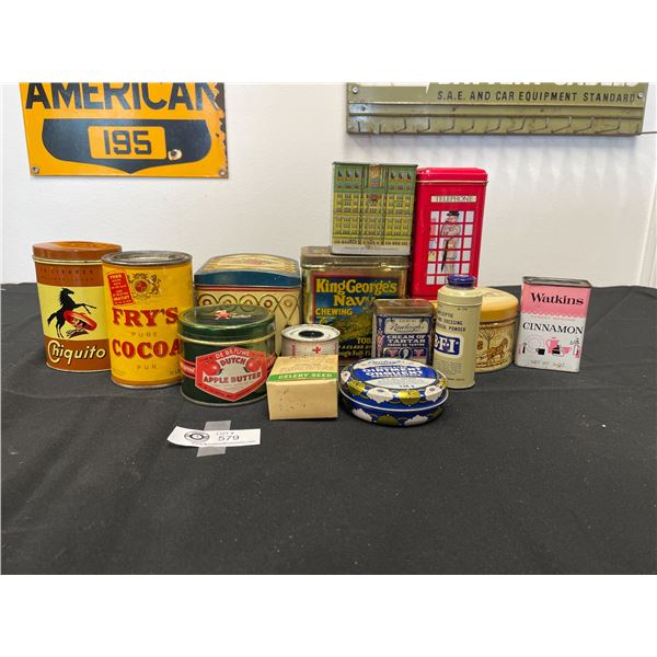 Nice Collectible Lot of Vintage Tins