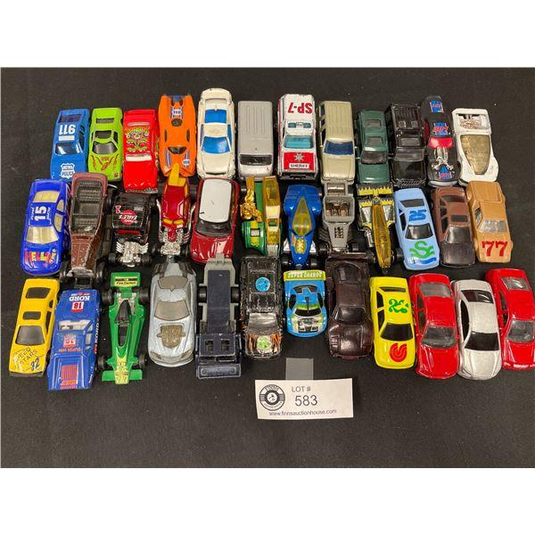 Nice Tray Lot of Vintage Hotwheels, Die Cast Cars Etc