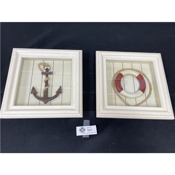2 Nautical Themed Shadow Boxes