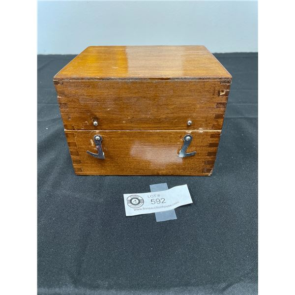 Drill Bits in Wooden Box