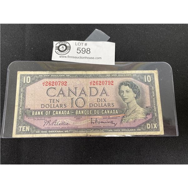 1955 Bank of Canada $10 Bank Note in Holder