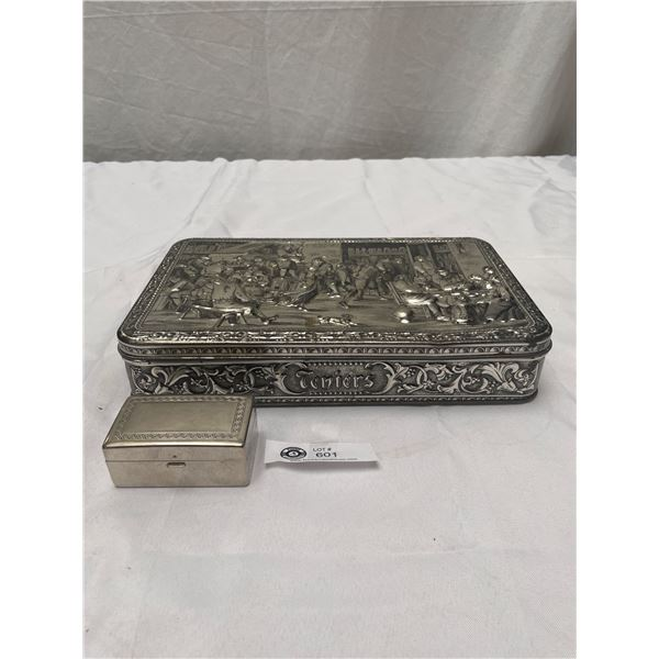 Nice Vintage Teniers Embossed Tin With Old Gillette Razor Box