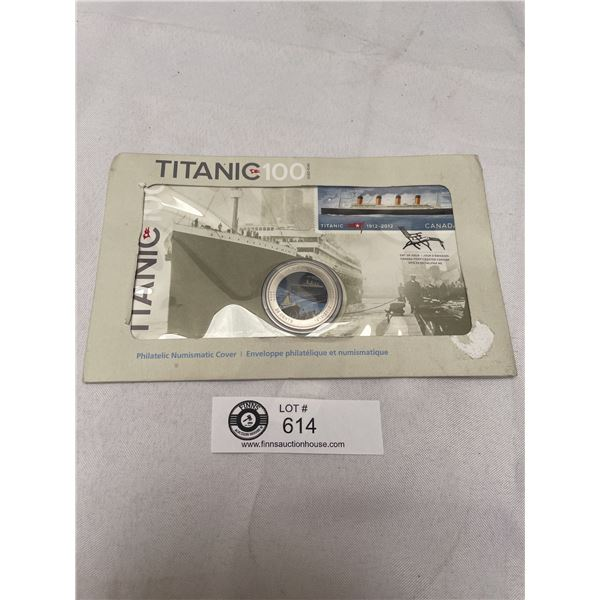 2012 Titanic $100 Years 1st Day Cover with 25Cent Colourized Coin in Original Package