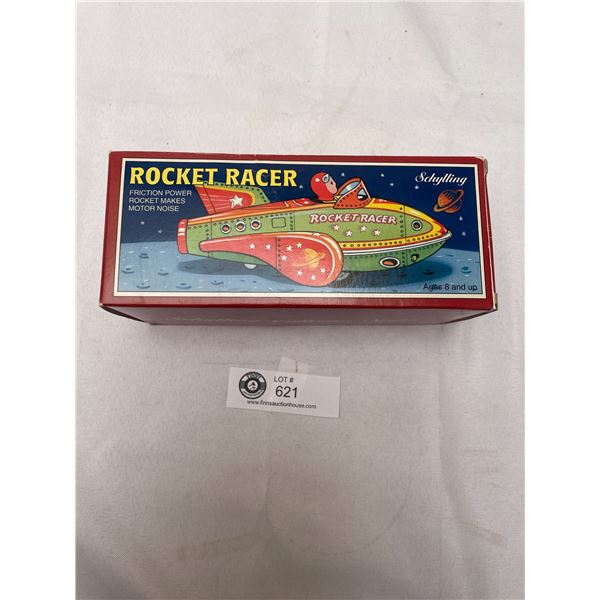 Tin Schylling Rocket Racer Machine Gun, Friction In Box
