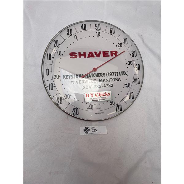Shaver Keystone Hatchery 1977 Manitoba Thermometer