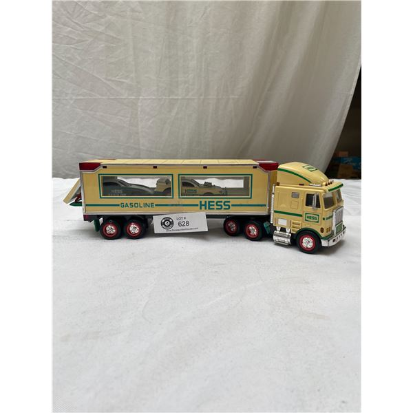 Hess Truck and Trailer with Race Cars inside