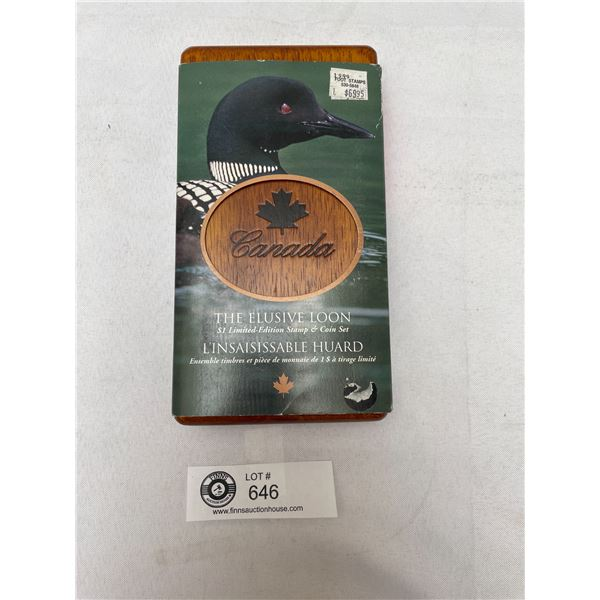 The Elusive Loon $1 Limited Edition Stamp and Coin Set in Original Box
