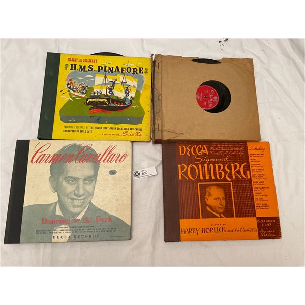 Lot of 4 Books Filled with Records from the 1950's and 60's