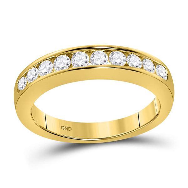 Round Diamond Wedding Channel Set Band 1/2 Cttw 14KT Yellow Gold