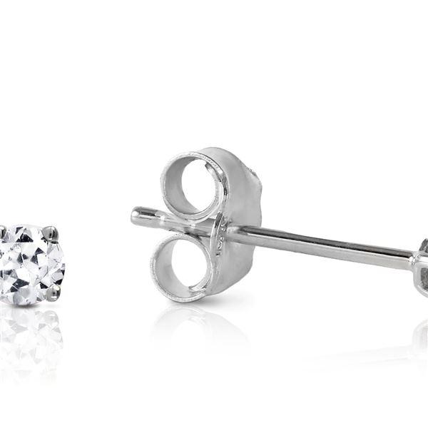 Genuine 0.10 ctw Diamond Anniversary Earrings 14KT White Gold - REF-24N3R