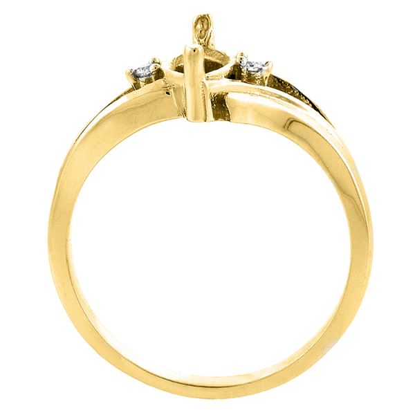 1.14 CTW Garnet & Diamond Ring 14K Yellow Gold - REF-31H3M