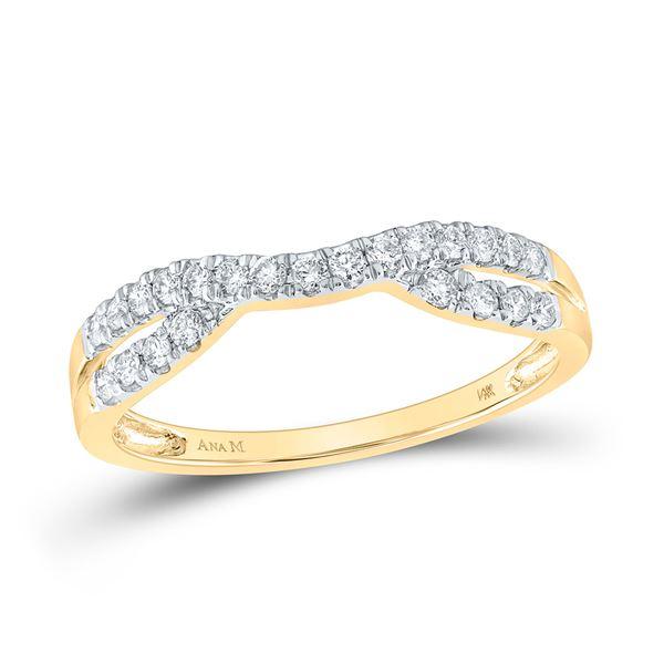 Round Diamond Contour Enhancer Wedding Band 1/4 Cttw 14KT Yellow Gold