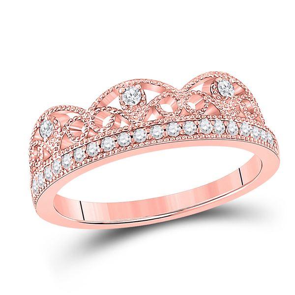 Round Diamond Band Ring 1/5 Cttw 10KT Rose Gold