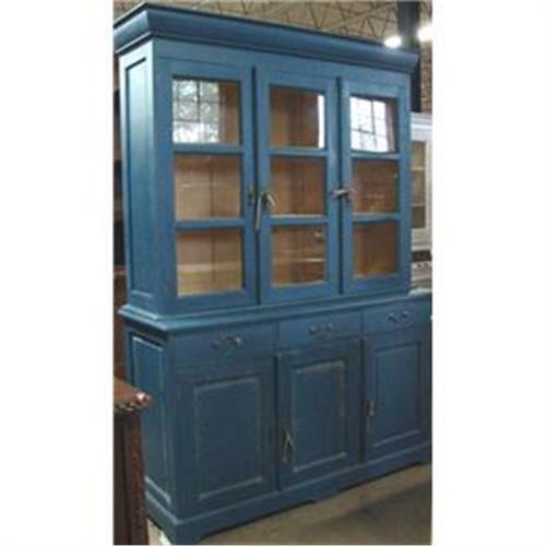the best attitude 08984 017fd primitive blue milk paint linen press bookcase #1932856