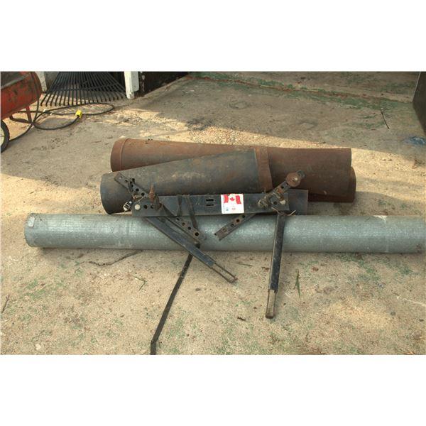 stove pipes/ bike rack