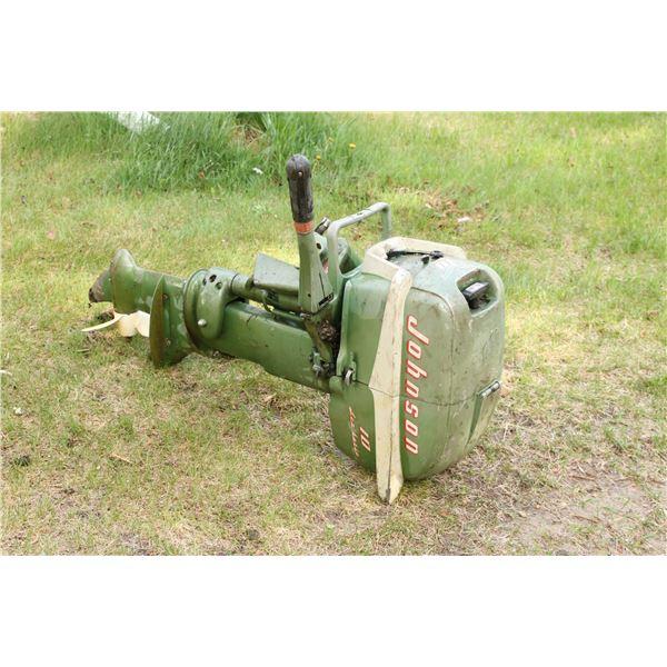 antique boat motor/ tank