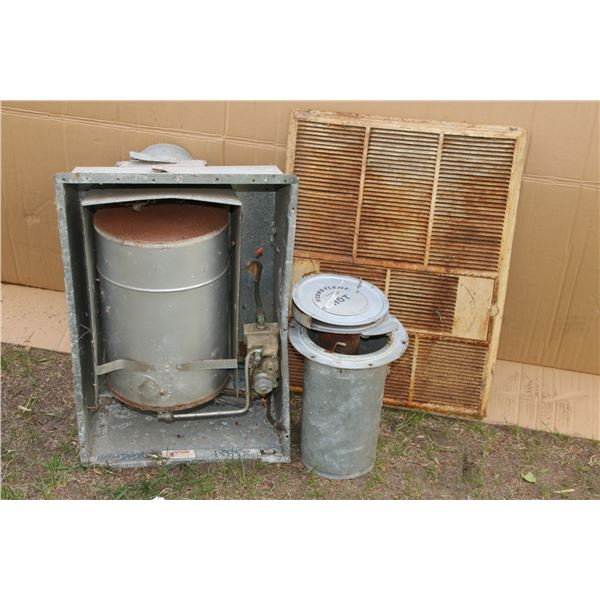 camper furnace, grill and chimney