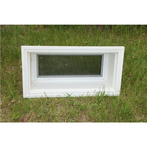 """new poly basement window 32 1/4"""" x 15'""""x 10"""""""