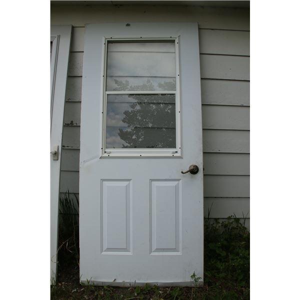 """1.5"""" steel screen door 35 1/2"""" x 79""""  with hard ware"""