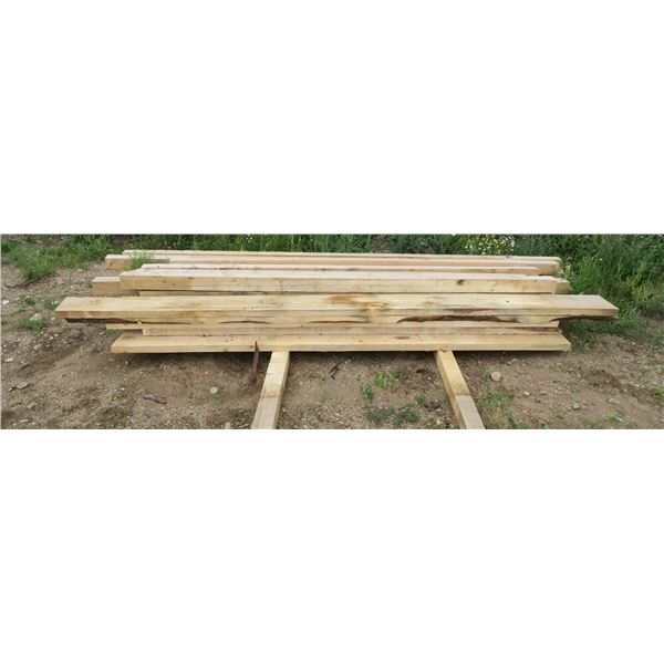 """Lot of Rough Cut Lumber, Misc. Sizes & Lengths From ~150"""" Down"""