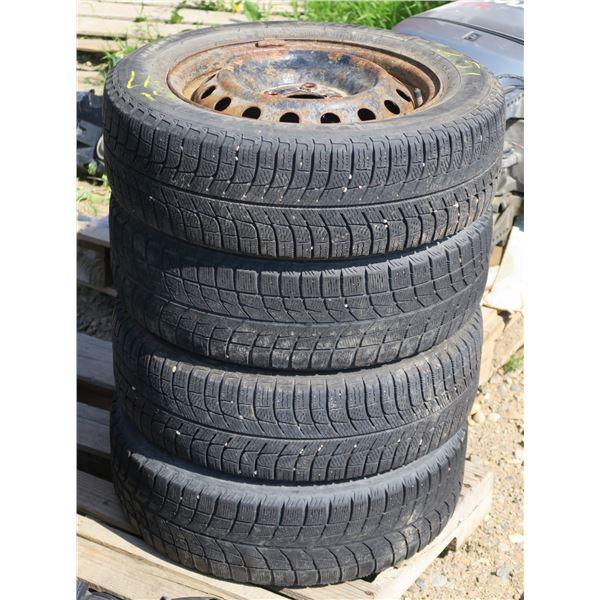 185/65/15 Michelin X Ice ×2 + 185/65/15 Bridgestone Blizzak ×2 Wheels and Tires