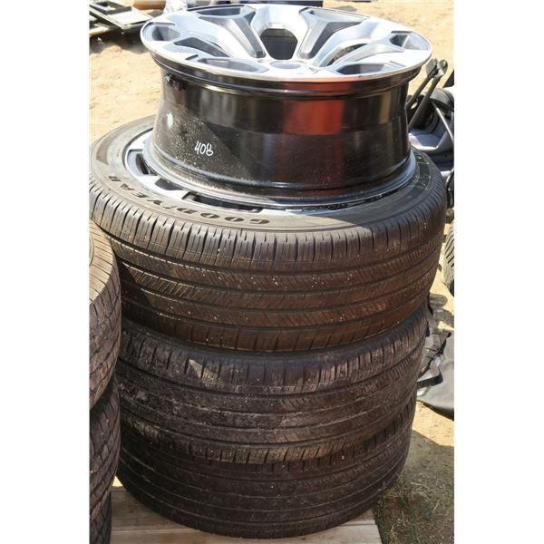 3 Tires/Rims 255/45/22 + Extra Matching Rim