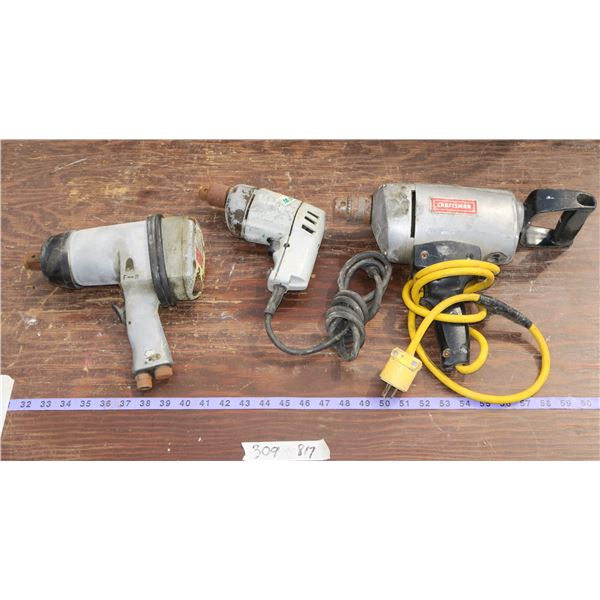 """Craftsman ½"""" Electric Drill, Air Impact, Small Electric Drill"""