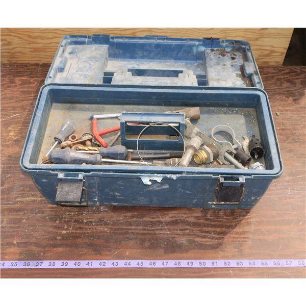 Plastic Toolbox + Contents