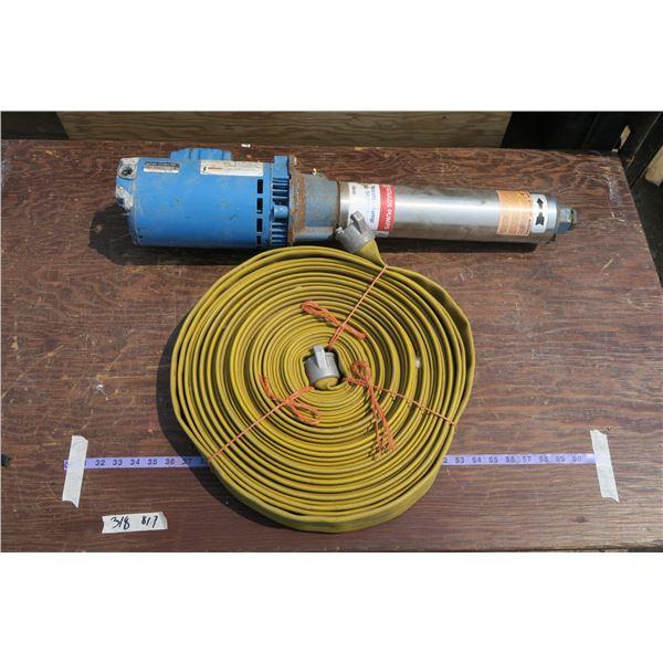 Jet Booster Pump + Roll of Hose