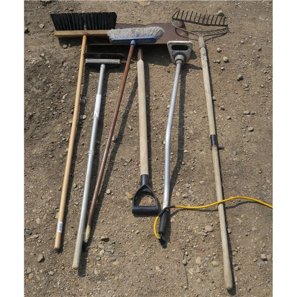 Lot of Yard Tools + Portable Electric Water Heater