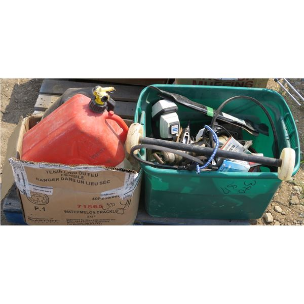 Lot of Misc. Small Engine Parts, Fluids/Containers etc.