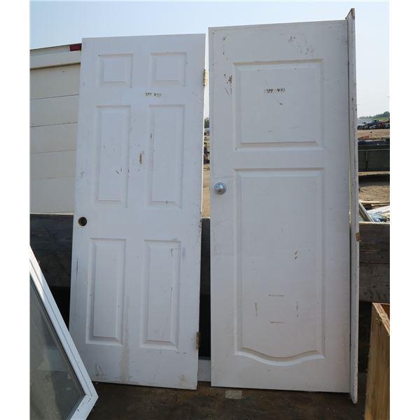 """2 Doors  Both 80.5""""×30"""