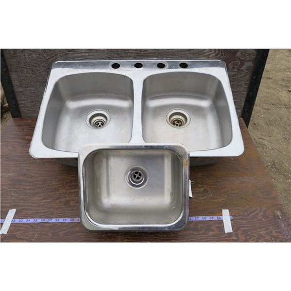 """Kitchen Sink + Small Sink (31""""×20.5"""" & 13.5""""×11.5"""")"""