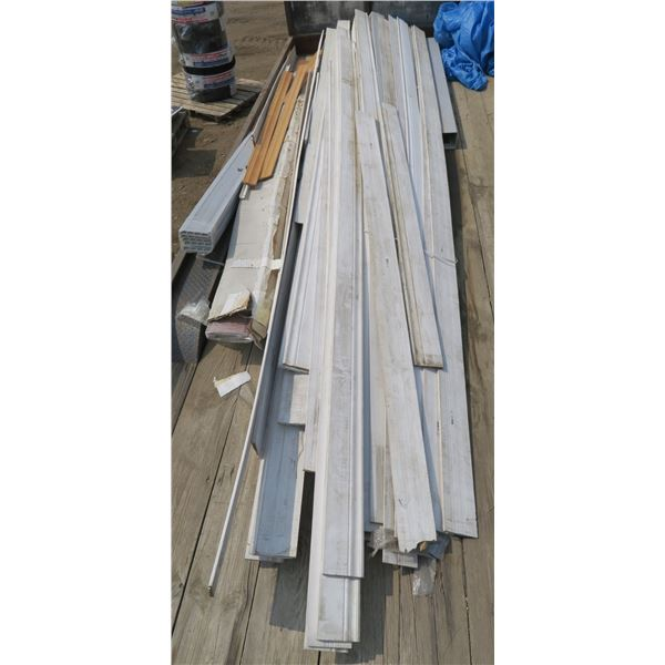 Lot of Baseboard, Casing, Siding Pieces. Misc. Lengths