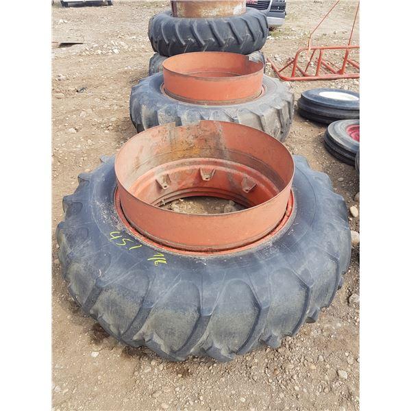 2 X 18.4 X 38 Tires & Rims Etc.