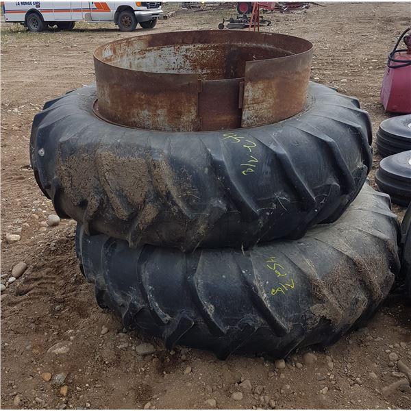 2 X 18.4 X 38 Tires & Rims