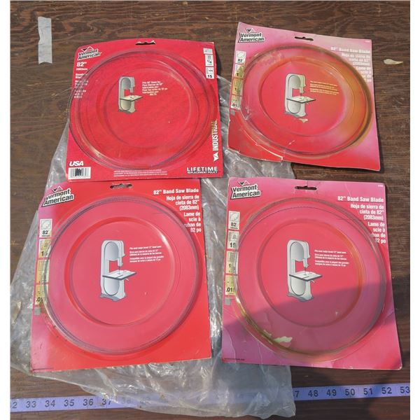 """Lot of 82"""" Bandsaw Blades"""