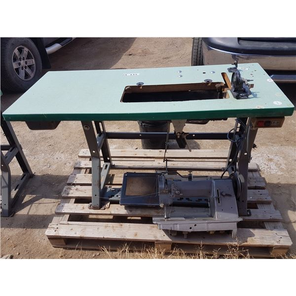 Commercial Sewing Machine And Base And Motor