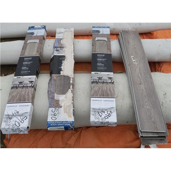 "Lot of Rigid Luxury Flooring Tiles (48""×7.5"" pcs)"